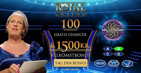 Who Wants To Be a Millionaire: Få 50 spins uden indskud på Royal Casino