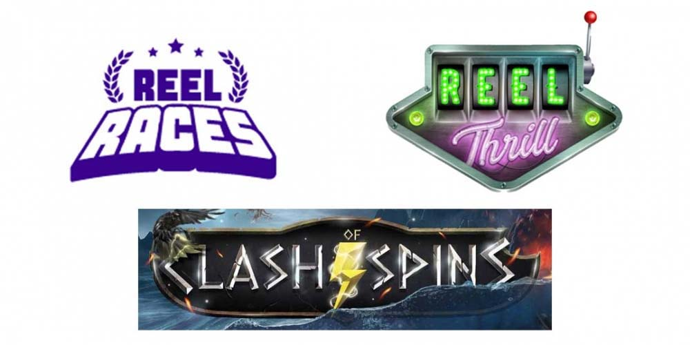 Reel Races, Reel Thrills og Clash of Spins - få bonus oveni din bonus