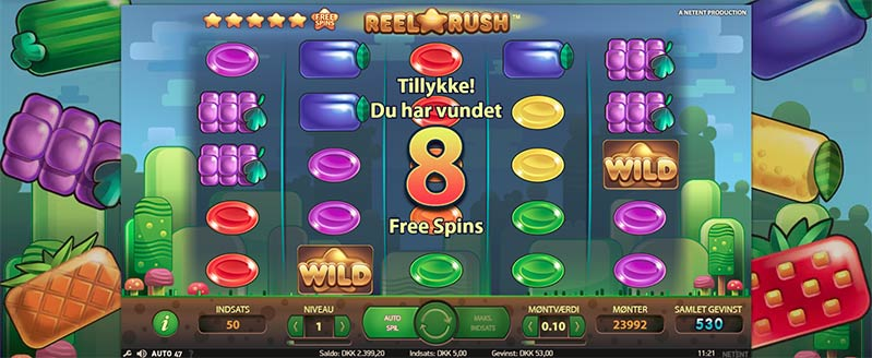 Reel Rush Free Spins